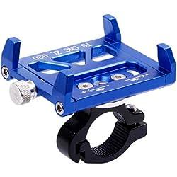 West Biking Fahrrad-Handyhalterung, Entriegelung mit einer Taste, 360° drehbar, für iPhone 7/7Plus/ SE /6S/ 6Plus/ 6/5S /Samsung Galaxy S8/S6/S5/S4 /LG/ Nexus/ Sony/ Nokia und weitere, Herren Kinder damen, blau