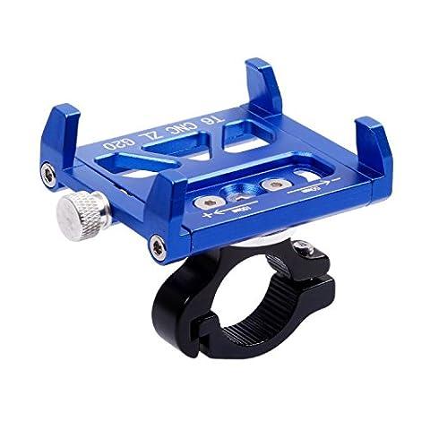 West Biking Supports de téléphone pour vélo universel avec un seul Bouton orientable à 360degrés pour iPhone 77Plus SE 6S 6Plus 65S Samsung Galaxy S8S6S5S4LG Nexus Sony Nokia, Homme Enfant femme, bleu