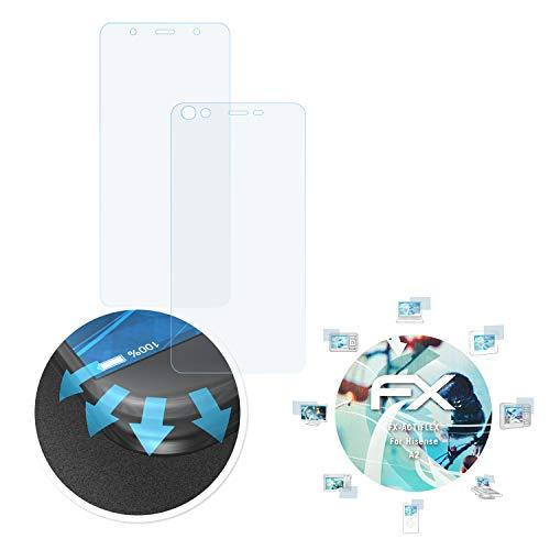 atFolix Schutzfolie passend für Hisense A2 Folie, ultraklare & Flexible FX Bildschirmschutzfolie (3er Set)