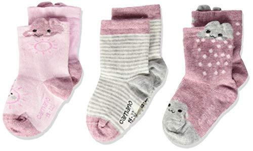 Camano Baby-Unisex Socken 1106007, (Chalk Pink Melange 4300), 15-18, 3er Pack -