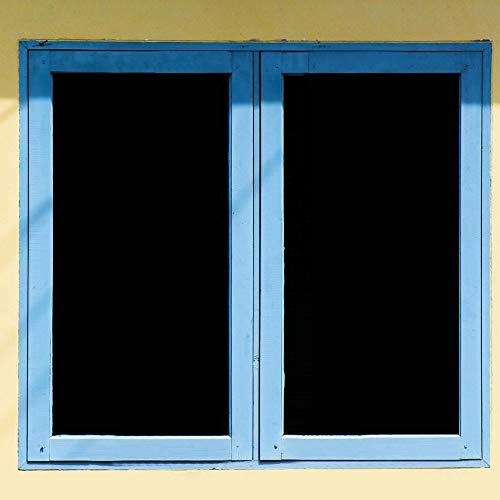Homein Fensterfolie Schwarze Sichtschutzfolie Selbstklebend Folie für Fenster Verdunkelungsfolie Milchglasfolie Sichtschutz Klebefolie Blickdicht Statisch Haftend Window Film 90 x 200 cm