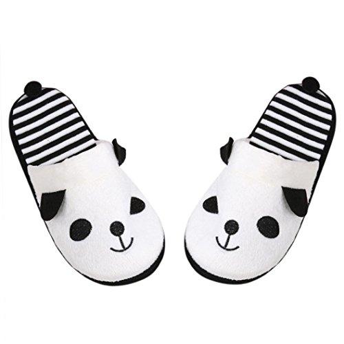 Pantofola donna ,feixiang® bel fumetto panda casa piano morbido pantofole scarpe donna 36-40 (40, bianco)