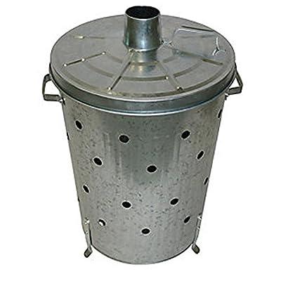 Home Discount® 75L Litre Incinerator Galvanised Metal Garden Fire Bin Dustbin Rubbish Paper Leaves Wood Waste Burner