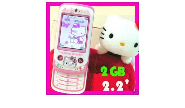 fdf80f627 BestSoBuy PINK (2GB) HELLO KITTY MOBILE PHONE UNLOCKED TOUCH SCREEN DUALSIM  MP3/MP4/FM CAMERA STYLUS Gift for WOMENS/GIRLS: Amazon.co.uk: Electronics