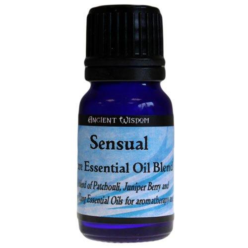 Sensuel Mélange d'huile essentielle – 10 ml. 10 ml, Mélange de Ylang Ylang, genévrier et de patchouli Huiles Essentielles pures. Un cadeau parfait – Idéal pour les anniversaires, Noël, etc.