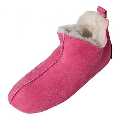 Lammfell Hausschuhe - Bali Fellschuhe Lederschuhe Bettschuhe Puschen Größe EUR 41, Farbe Pink