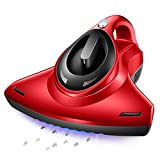 IF.HLMF Anti-Dust Mites UV Vacuum Cleaner with HEPA Filtration and Double Powerful Suctions Eliminates Mites, Bed Bugs Allergens for Mattresses Pillows Cloth Sofas and Carpets,Red