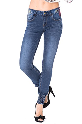 DESIGUAL - Jeans donna slim fit refriposas punos w28 denim