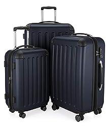 MAIN CITIZENS - Spree - 3er Suitcase Set Trolley Set Trolley Case Expandable, TSA, 4, (S, M & L), Dark Blue