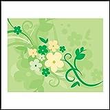 Fliesenaufkleber Fliesentattoos für Bad & Küche - Küchenfliesen für einzelne Fließen 10x10 cm - MF751 - schönen grünen Hintergrund Blume