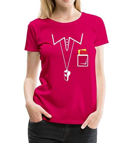 Spreadshirt Schiedsrichter Frauen Premium T-Shirt, M (38), Dunkles ()