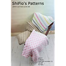 patrón para dos agujas - KP277- 3 mantas/cobijas/frazadas para bebé