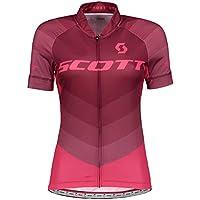Scott SCO Camiseta W 'S RC Pro S/SL Tibetan Red/Azalea Rosa