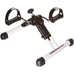 Ultrasport MPE 25 - Minibicicleta estática plegable para el entrenamiento de brazos y piernas