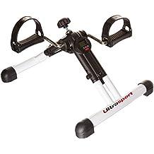 Ultrasport MPE Com 25 - Minibicicleta estática plegable con consola, para el entrenamiento de brazos y piernas
