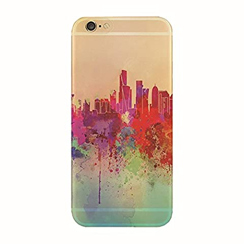 Jinberry Soft TPU Slim Case with Dust Plug for iphone7 Colourful Printing Pattern, Ultra Thin Fit 0.5mm Scratch Resistant Silicone Shell for Apple iphone 7 - Graffiti