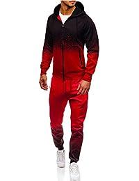 b016240c833 Hommes Sport Muscle Ensemble Sportswear Zip À Capuche Chandail Survêtement  De Sport Athlétique Vêtements Décontractés