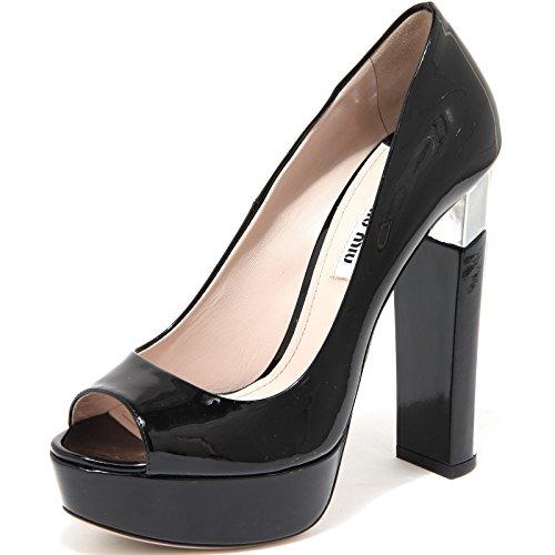 86318 decollete spuntata MIU MIU VERNICE 7 scarpa donna shoes women [40]
