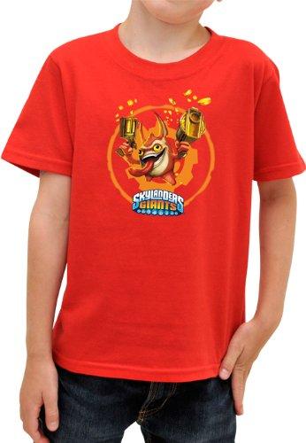 ABYstyle-abytex2025/6Jahre-Kostüm-Skylanders-Kinder Shirt Trigger MC Red