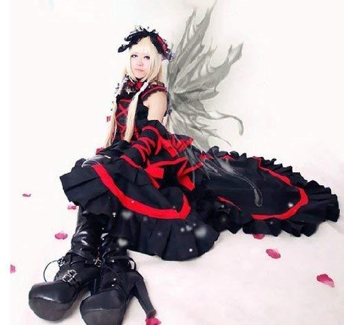 Sunkee Chobits Cosplay Chi Kostüm Gothic Lolita Rot Schwarz Kleid, Größe XL ( Alle Größe Sind Wie Beschreibung Gesagt, überprüfen Sie Bitte Die Größentabelle Vor Der Bestellung )