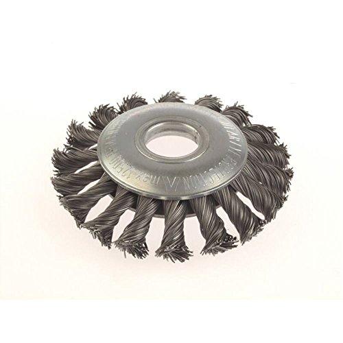 Zopf-Kegelbürsten Drm 100 x 12 mm 18 Z Stahldraht STH glatt 0,50 mm Bohrung 22,2 mm