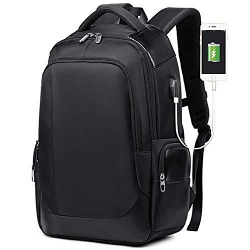 Laptop 17 Zoll 15.6 Männer Rucksäcke Wasserdichter Rucksack USB Lade Notebook Business Travel Bagpack Black