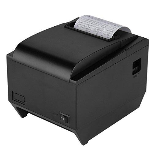 Excelvan ZJ-8250 Portatile Stampante Termica 250mm/sec 80mm Ricevuta Dot POS Printer con AUTO-CUT