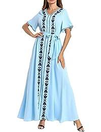 zhbotaolang Ropa Musulmana Vestido Abaya Mujer - Kaftan Arabe Maxi Jalabiya Islámica Caftan Elegante Más Bordado