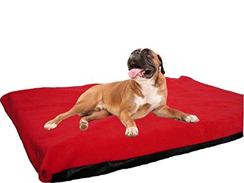 KosiPet Ersatz-Hundebettbezüge in 3 Größen, 20 Farben pro Größe (Medium, Red Fleece)