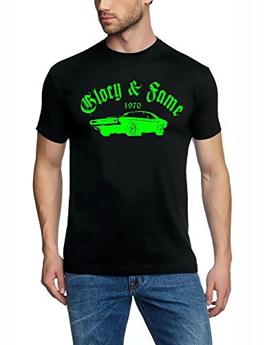 DODGE CHARGER CHALLANGER 1970 Glory & Fame T-Shirt schwarz-green Gr.L (Pontiac-kfz-teile)