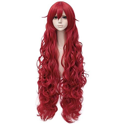 Cosplay Perücken/synthetische Perücke lockigen Stil geschichteten Haarschnitt capless Perücke rot rot Kunsthaar 40 Zoll Frauen Anime/Cosplay rote Perücke sehr lang
