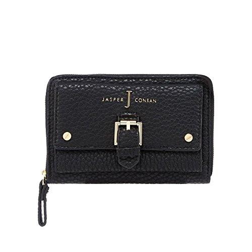 j-by-jasper-conran-womens-black-buckle-detail-zip-around-wallet