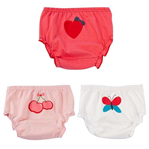 JEELINBORE Ropa Interior para Bebés Niña Braguitas Pantis Volantes Pantalones Bombachos, 3...