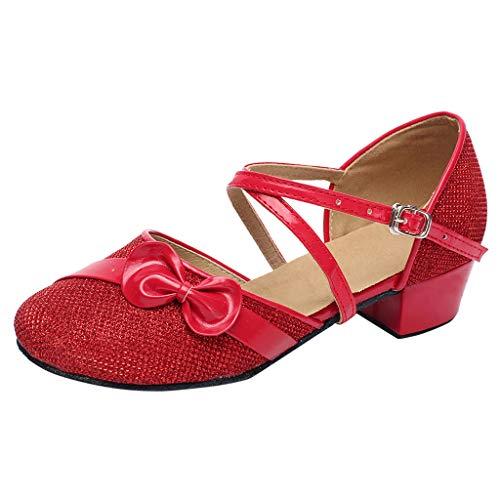 (Sannysis Kinder Latein Tanzschuhe Mädchen Stain Tanz Schuhe Ausgestelltes Hoher Absatz Sandalen Standard Salsa Tango Samba Rumba Soziale Ballsaal Outdoorschuhe)