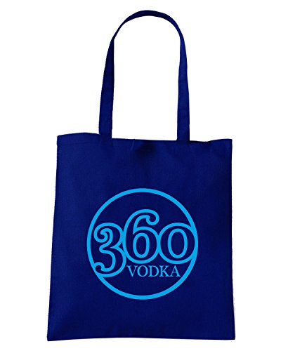 T-Shirtshock - Borsa Shopping FUN0356 360 vodka logo circular sticker 21286 Blu Navy