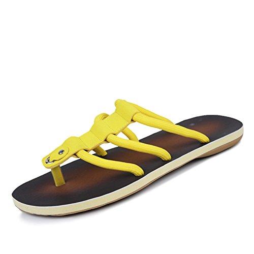 Sommer Rutschen Flip flops/Aktuelle Herrenschuhe Gelb