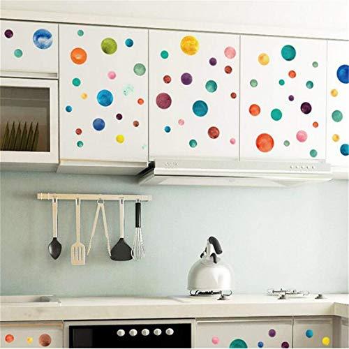 Wandaufkleber Kunst Aufkleber Hintergrund Dekor Home Küche Aufkleber Aufkleber Wandbild Vinyl Zitat Wandaufkleber Wandtattoos Wohnkultur Farbigen Kreis Glas