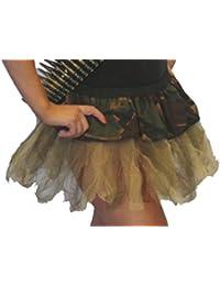 Army Girl Fancy Dress Tutu skirt Sash and Bullet Belt