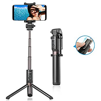 Perche Selfie Bluetooth Selfie Stick Extensible,RIVERSONG Bâton de Selfie Monopode Sans Fil avec Télécommande pour iphone 6s plus/6s/6 plus/6/5s/5, Samsung Galaxy, Android-Trépied Flexible pour FaceTime et Enregistrer une Vidéo