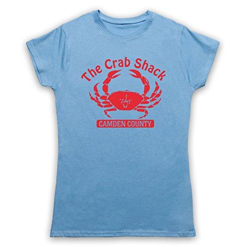 Inspiriert durch My Name Is Earl Crab Shack Unofficial Damen T-Shirt Hellblau