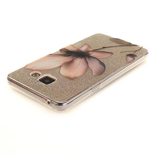 Galaxy A510 hülle,MCHSHOP Ultra Slim Skin Gel TPU hülle weiche Silicone Silikon Schutzhülle Case für Samsung Galaxy A5 (2016) A510 - 1 Kostenlose Stylus (Cartoon-Pinguin) Magnolie