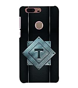 YuBingo Huawei Honor 8 Designer Phone Back Case Cover ( Thrilling Letter T (Metal Finish Plastic) )