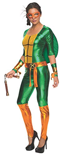 Turtles Teenage Kostüm Sexy Ninja Mutant - Classic Michelangelo TMNT Women's Jumpsuit Costume Large