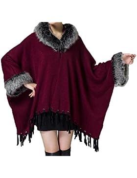 Chaqueta De Otoño Y Invierno Chaqueta De Cuello De Gran Tamaño Suelta De Punto De Punto Cardigan Mujeres Capa