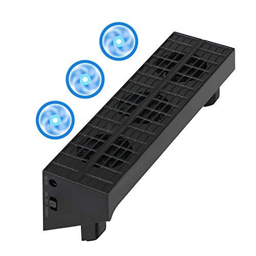 Linkstyle Lüfter für PS4 Slim, USB Externer Kühler 3 Lüfter Turbo-Temperaturregelung für Sony Playstation Slim Gaming Console