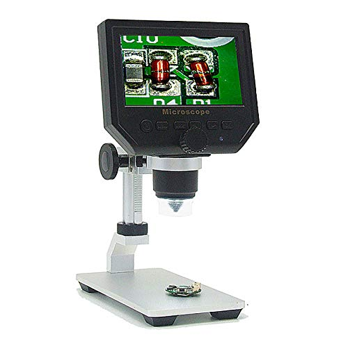 DyNamic Mustool G600 Digital 1-600X 3.6Mp 4,3-Zoll-Hd-Lcd-Display-Mikroskop Kontinuierliche Lupe Mit Aluminiumlegierung Stand Upgrade-Version