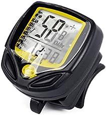 noondl Fahrrad-Tachometer, wasserdicht, kabellos, Fahrradcomputer und Fahrrad-Stoppuhr mit LCD-Hintergrundbeleuchtung und automatischem Aufwachen, Multifunktionalität