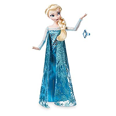 Disney Store Oficial Elsa Princesa muñeca clásica con el Anillo de Accesorios de Disney