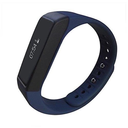 Preisvergleich Produktbild Jcotton Smartwatch IP67 wasserdichte intelligente Smart bracelet Bluetooth 4.0 Fitness Aktivität Tracker beobachten Sport Gesundheit Pedometer Armband Fügen Fitness Schlaf Monitor Sedentary Erinnerung Wristband Kompatibel mit Android IOS Smartphones (denkelblau (upgrade3.0 ))