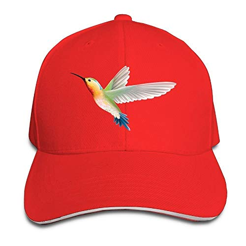 LoveBiuBiu Hummingbird Rainbow Cotton Adjustable Peaked Baseball Cap Adult Sandwich Hat (Blue Power Cap Newsboy)
